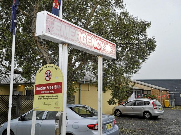 The Emergency Hospital in Byron Bay was closed due to storm damages on saturday. Photo : Mireille Merlet-Shaw/The Northern Star