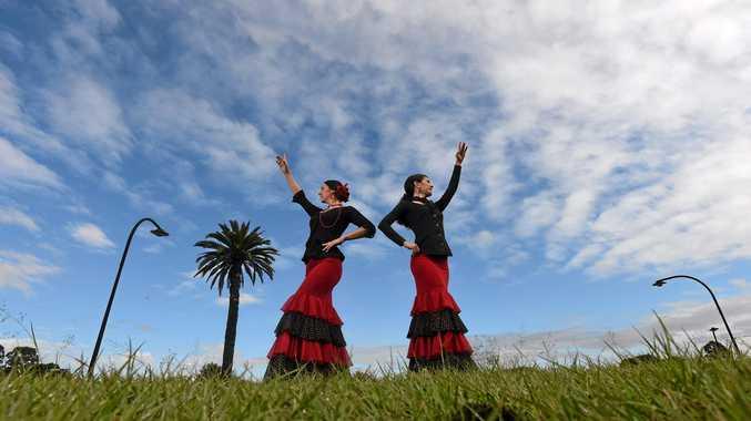 DANCERS: Arte Gitana instructors Serena Joy and Kelly Houghton .