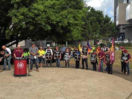 The Queensland protest took place in Brisbane's CBD.