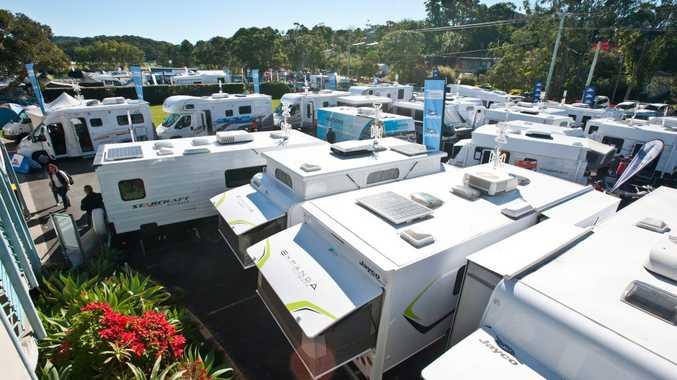 Coffs Coast 4WD, Caravan, Camping & Boat Show, Coffs Harbour Racing Club: Vans, Vans and more than vans. Photo: Rob Wright / The Coffs Coast Advocate