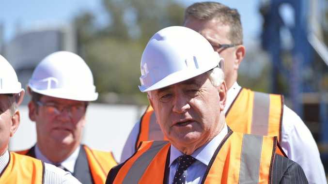 Mayor Paul Antonio at the Toowoomba Second Range Crossing sod turning in December.