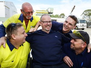 Man thanks colleagues for saving his life after forklift incident
