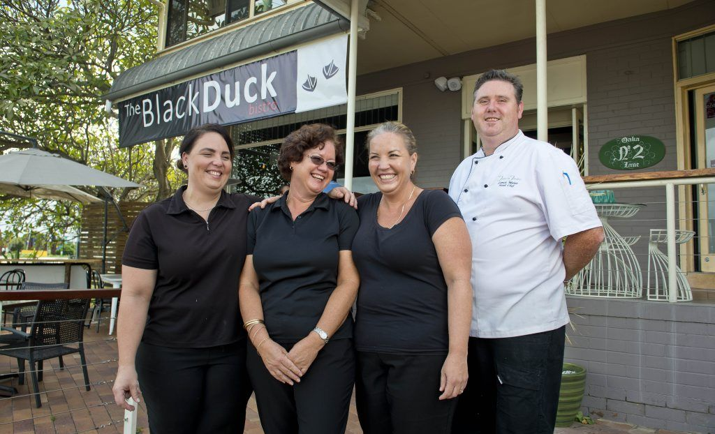 The Black Duck owners Natalie and Glennis Lane, Collette Giha Carella and chef Lance Myer opened the re-vamped Tables on Flinders restaurant this week.