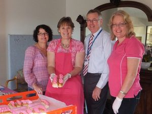 Hospital hosted morning tea pretty in pink