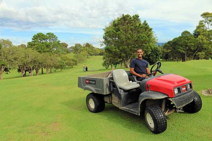 Daniel McKechnie has found full-time work at the Sawtell Golf Club thanks to the Work for the Dole program.