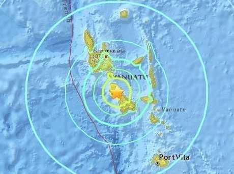 Earthquake strikes near Vanuatu