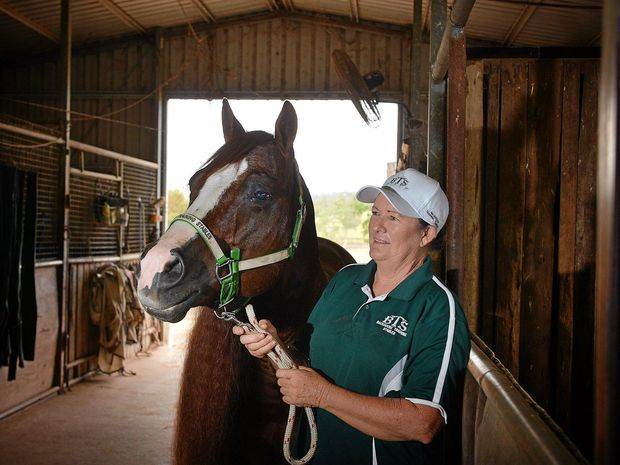 Carol Backhouse from Backhouse train is advocting the Hendra virus vaccine after a couple of close calls.