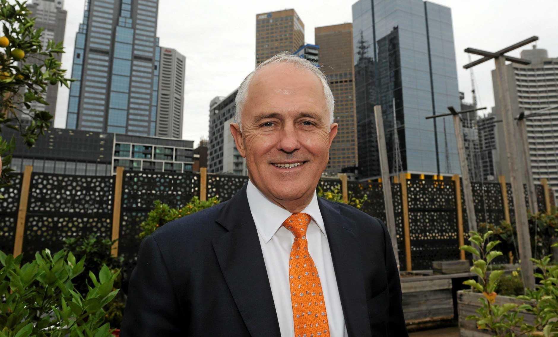 BIG PLANS: Prime Minister Malcolm Turnbull.