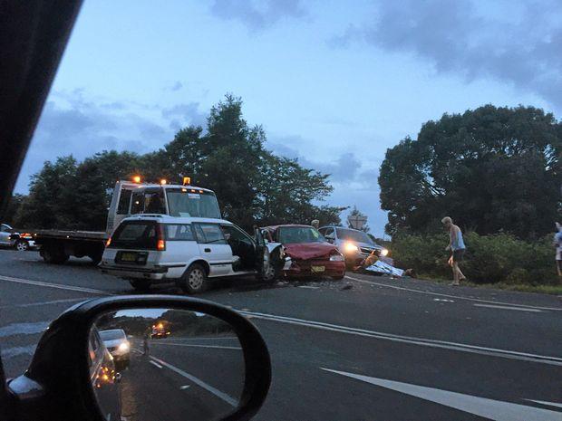 Two car crash at Nashua