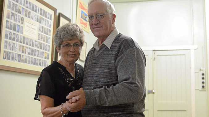 This weekend Warra Memorial Hall will have his Jubillee Diamond Ball.  Pictured: Beverley and Jeff Taylor on the dance floor at Warra's 58th anniversary dance.