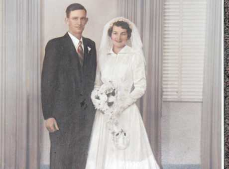 HAPPY COUPLE: Jack and Joan Phelan on their wedding day on April 28, 1956.