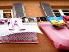 Open-air laundry ... it's a familiar site in Venice.