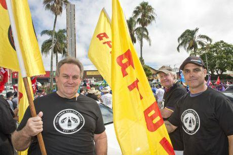 ( From left ) Greg Jordan, Tony Park and James Bartholomew .