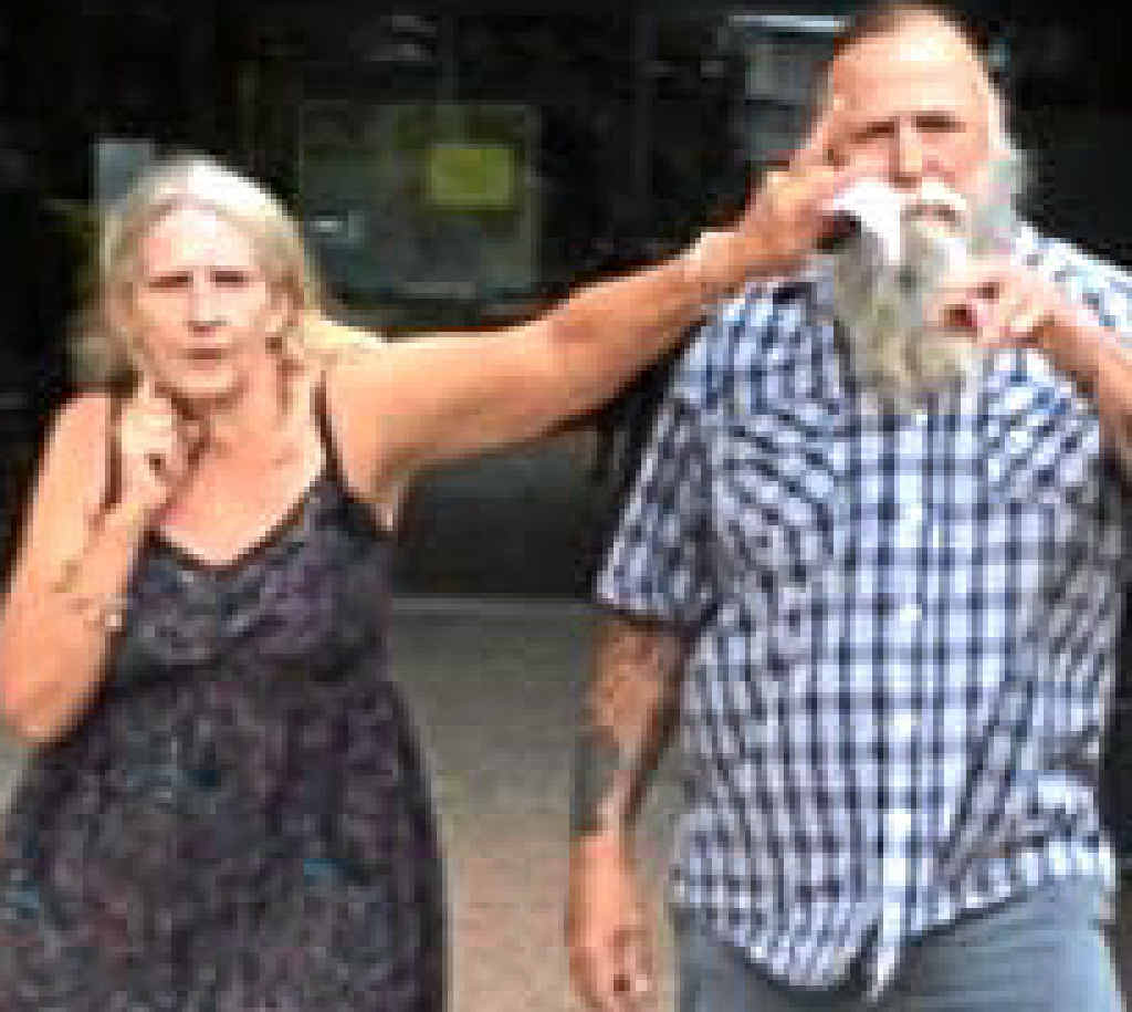 Donna and Wayne Warry leave court.