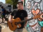 FACES OF BUNDY: Busker Jack Hardy. Photo: Mike Knott / NewsMail