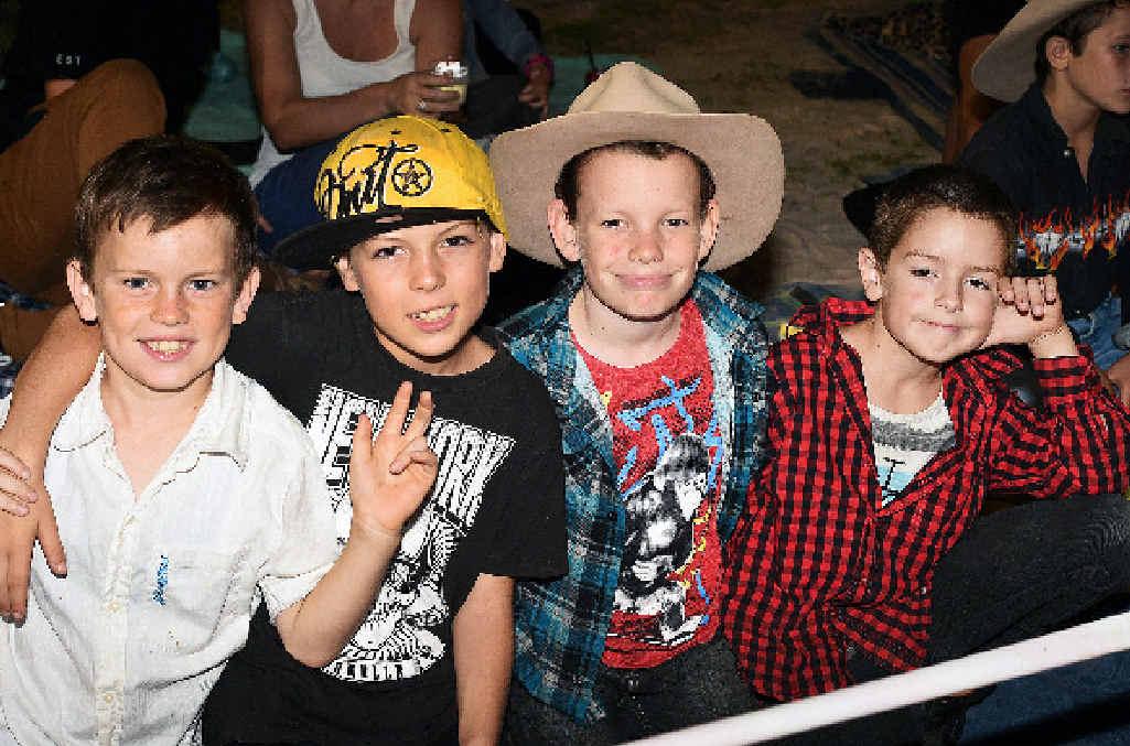 Harley and Jaykob Bishop, Jake Buchan and Leon Bishop.