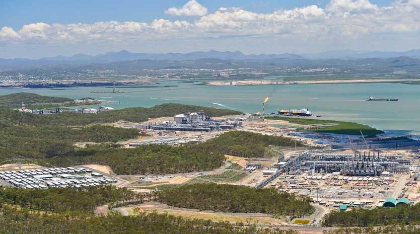 The three LNG plants on Curtis Island.