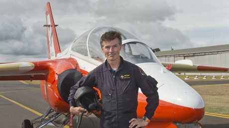 Stephen Gale with his SIA Marchetti S211 jet at the David Hack Classic.