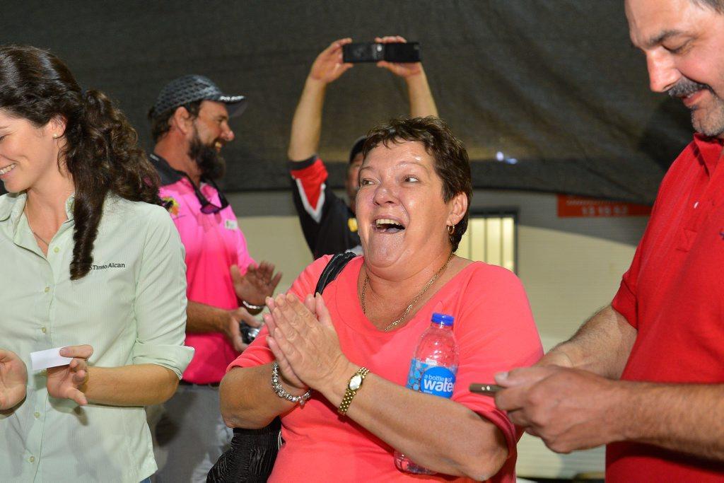 Sandy Dimitrov won the major boat prize at last night's Boyne Tannum HookUp.