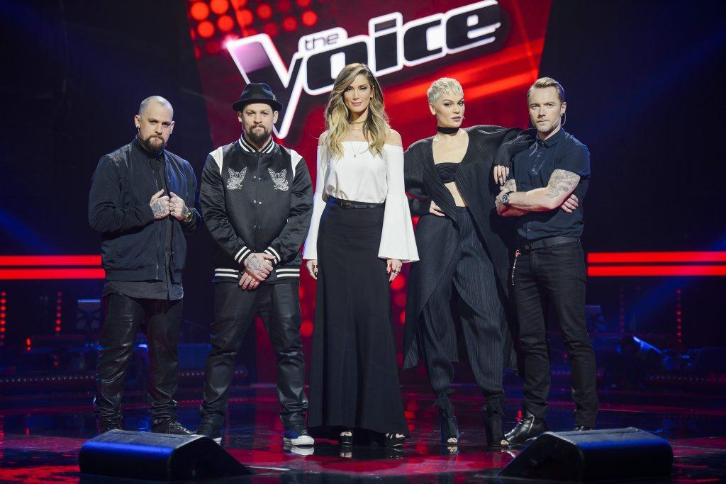The Voice Australia coaches, from left, Benji and Joel Madden, Delta Goodrem, Jessie J and Ronan Keating.
