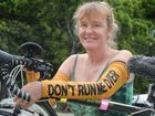 Sian Owen with her bike Photo Tony Martin / Daily Mercury