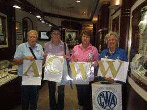 QCWA members step out for Women Walk the World event