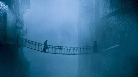 Balon Greyjoy meets his brother Euron on a rope bridge in season six episode two of Game of Thrones.