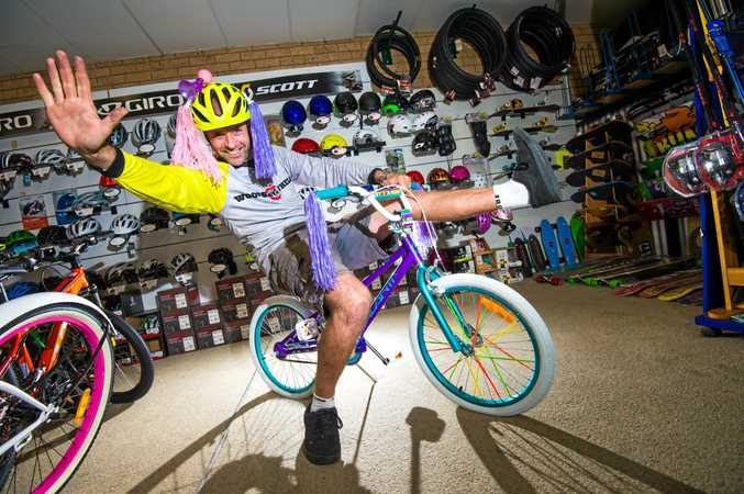 Owner of Woolgoolga's Woodseys Wheels Scott Bocking is offering to decorate your bike for the upcoming Emerald Beach Fair.