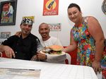 Hot Rods Diner owners Dan and Lisa with guest Tony Bains