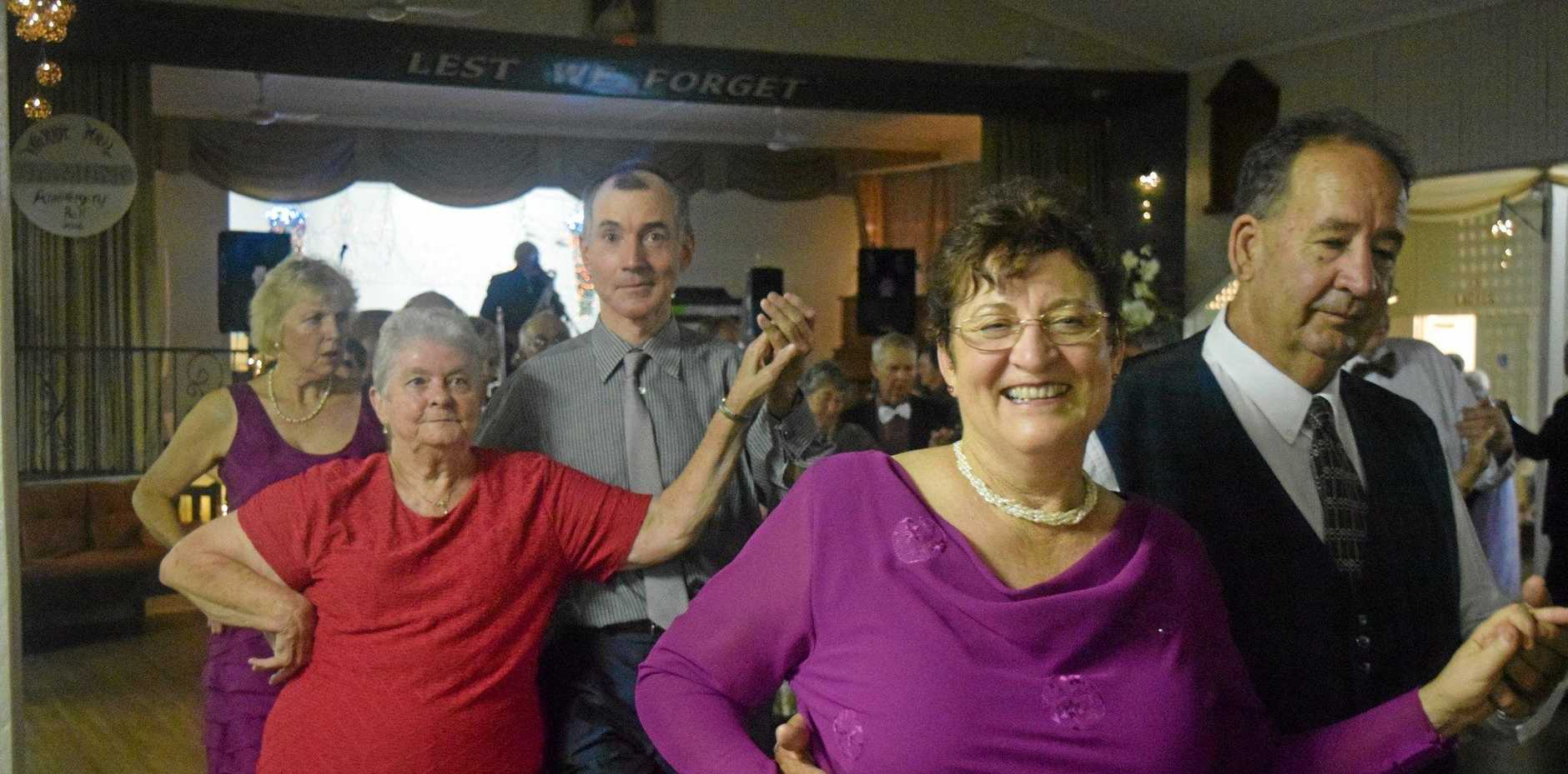 DAZZLING DUO: Jan and Les Lucas at the Warra Diamond Jubilee Ball.