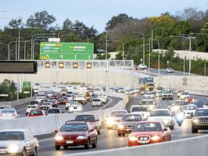 Motorway prang puts skids on peak hour traffic