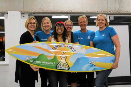 The Startup Weekend 2016 organisers, Retha Scheepers, Jarna Baudinette, Lalitha Wemel, Anne Lawrence, Jason Riddell and Sandy Elsom.