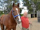 BACK ON TRACK: Trainer Alan Ryan with Redwolf who makes his return to racing today at Grafton.