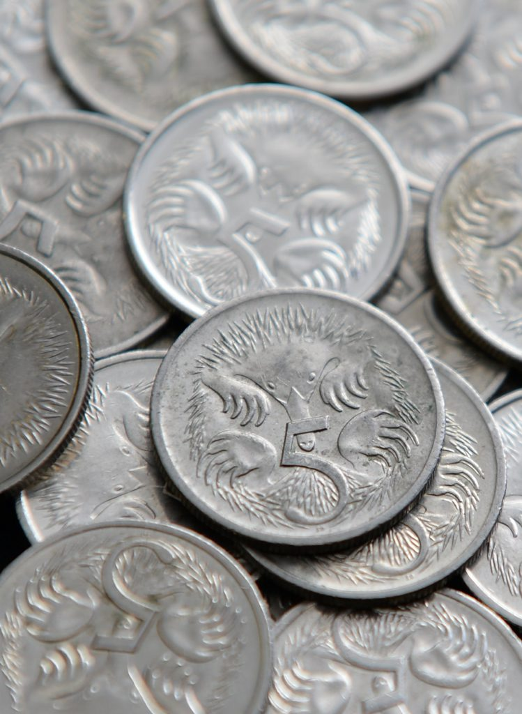 The five cent coin is soon to be a discontinued currency in Australia.Photo: Rob Williams / The Queensland Times