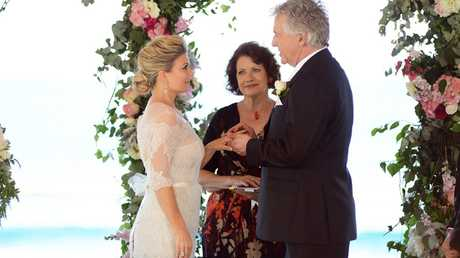Emily Symons and Shane Withington in a scene from the TV series Home and Away. Supplied by Channel 7.