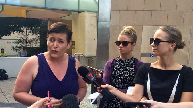 Australian Conservation Foundation chief executive Kelly O'Shanassy speaks to media outside Federal Court in Brisbane ahead of court hearing between ACF and Federal Environment Minister Greg Hunt over the approval of the Carmichael Mine.Photo Pamela Frost
