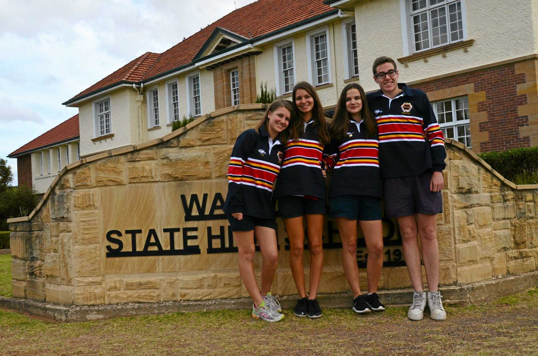 Students at Warwick State High School
