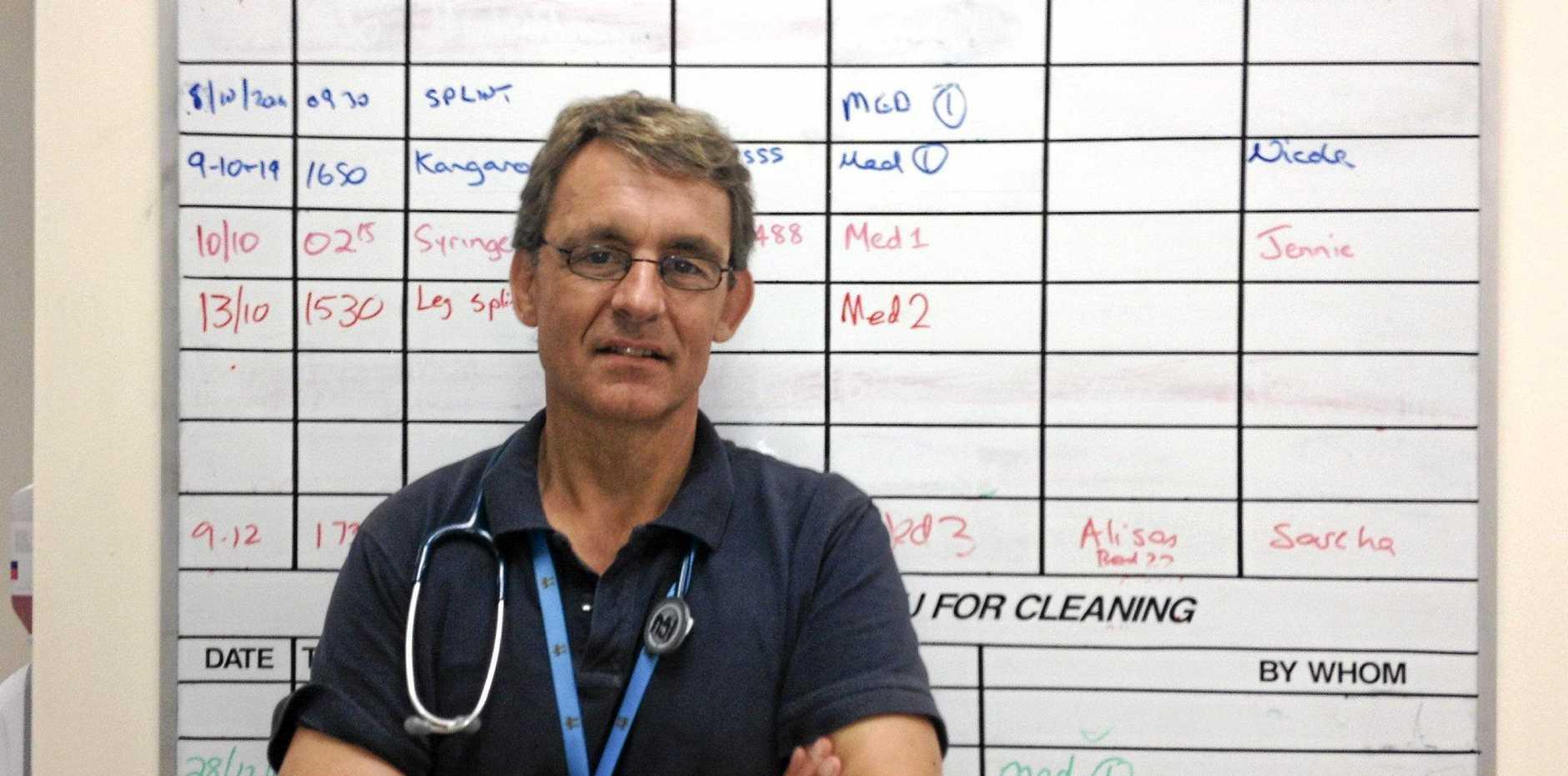 Tweed Hospital Intensive Care Unit lead Dr Mike Lindley-Jones.