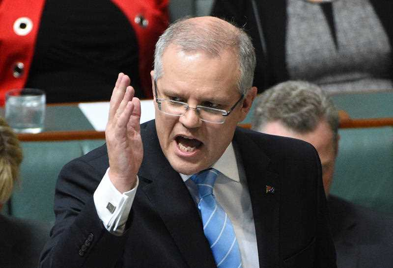 Treasurer Scott Morrison during Question Time at Parliament House in Canberra, Wednesday, May 4, 2016.