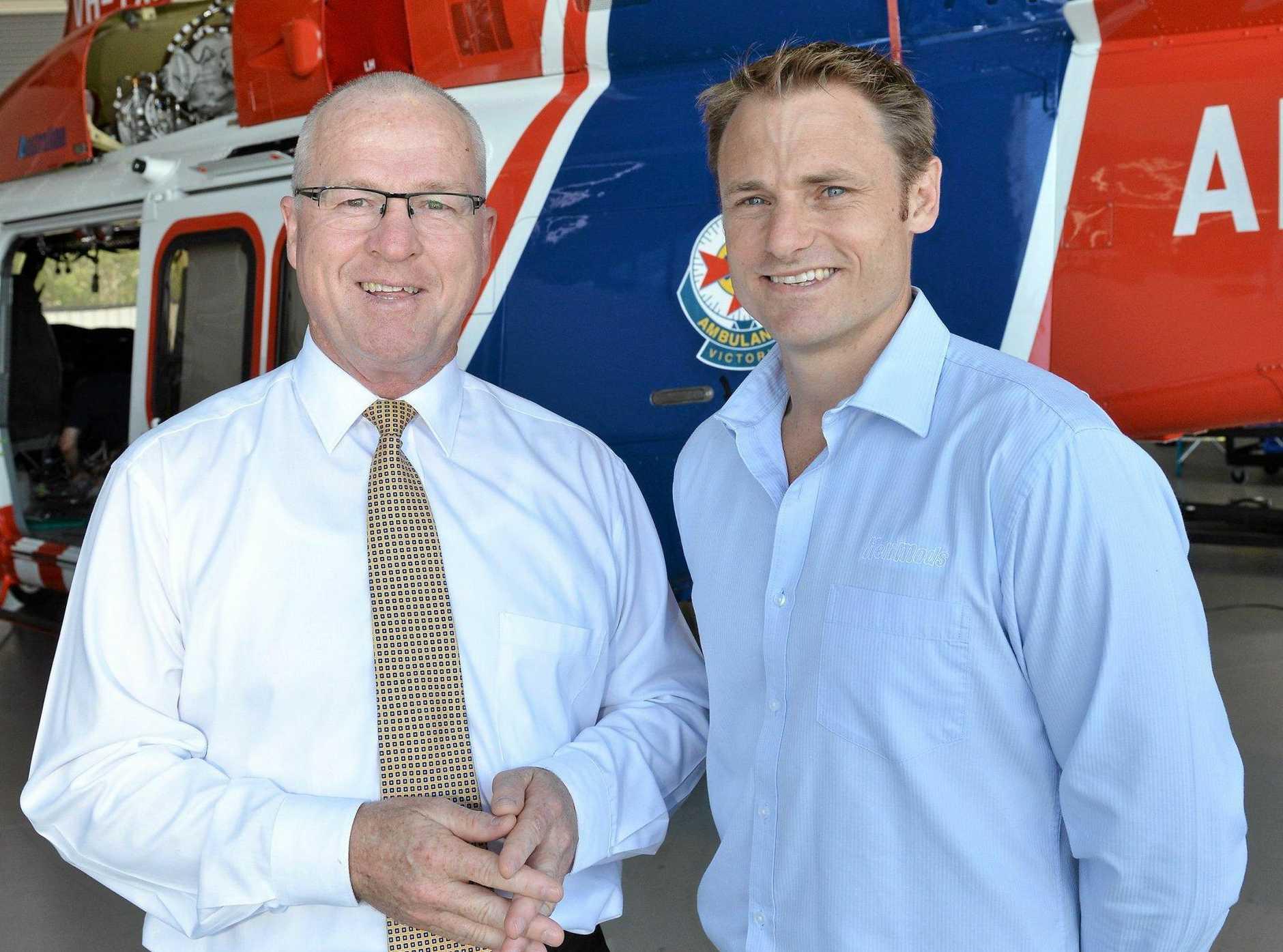 POTENTIAL: Mayor Mark Jamieson with Will Shrapnel of Helimods.