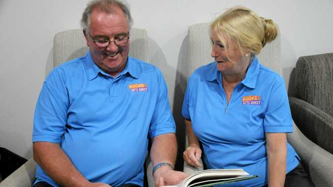 NEW TO TOWN: Books and Gifts Direct franchisees John and Lyn Seccombe.