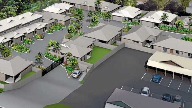 SECURED LIVING: An artist impression of what Highfields Mews will look like when it is complete early next year.