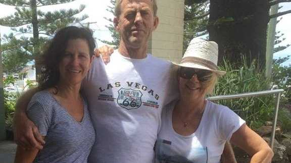 TRAGEDY: Turners beach drowning victim Ken McLean, with his partner Michele (left) and sister Rhonda Shone.