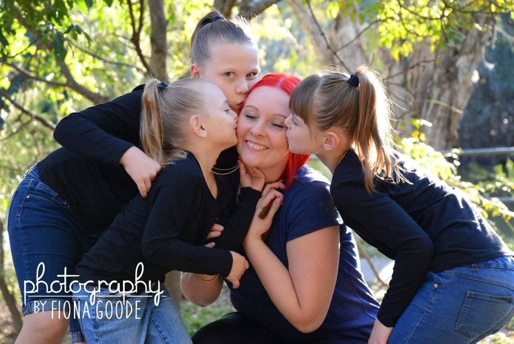 Hope Butcher spends as much time with her three daughters after a terminal cancer diagnosis. Photo Contributed