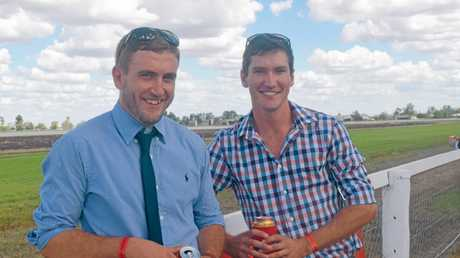 Dalby stars Luke and Cody Cook from House Rules at the 2016 Dalby Picnic Races.