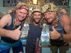 William Topp, Anthony Madex and Shaun Breed ready for the Varity Bash. The team are dressed as Aussie Bogans.