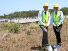 ALMOST DONE: Page MP Kevin Hogan and Ballina MP Don Page at the start of the second stage of the Pacific Highway upgrade from Pimlico to Teven. The work is now almost finished.