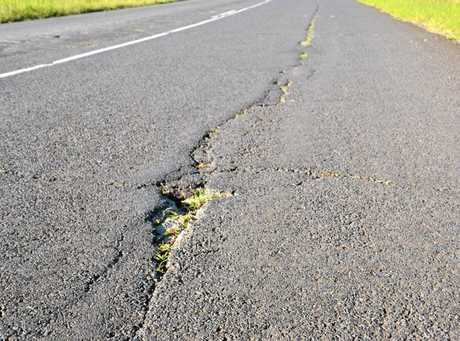 Lyn Wenzell said she'd like to see Wyrallah Road fixed before it has to be mowed.