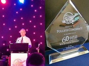 Polleys recognised for 60 years on the buses