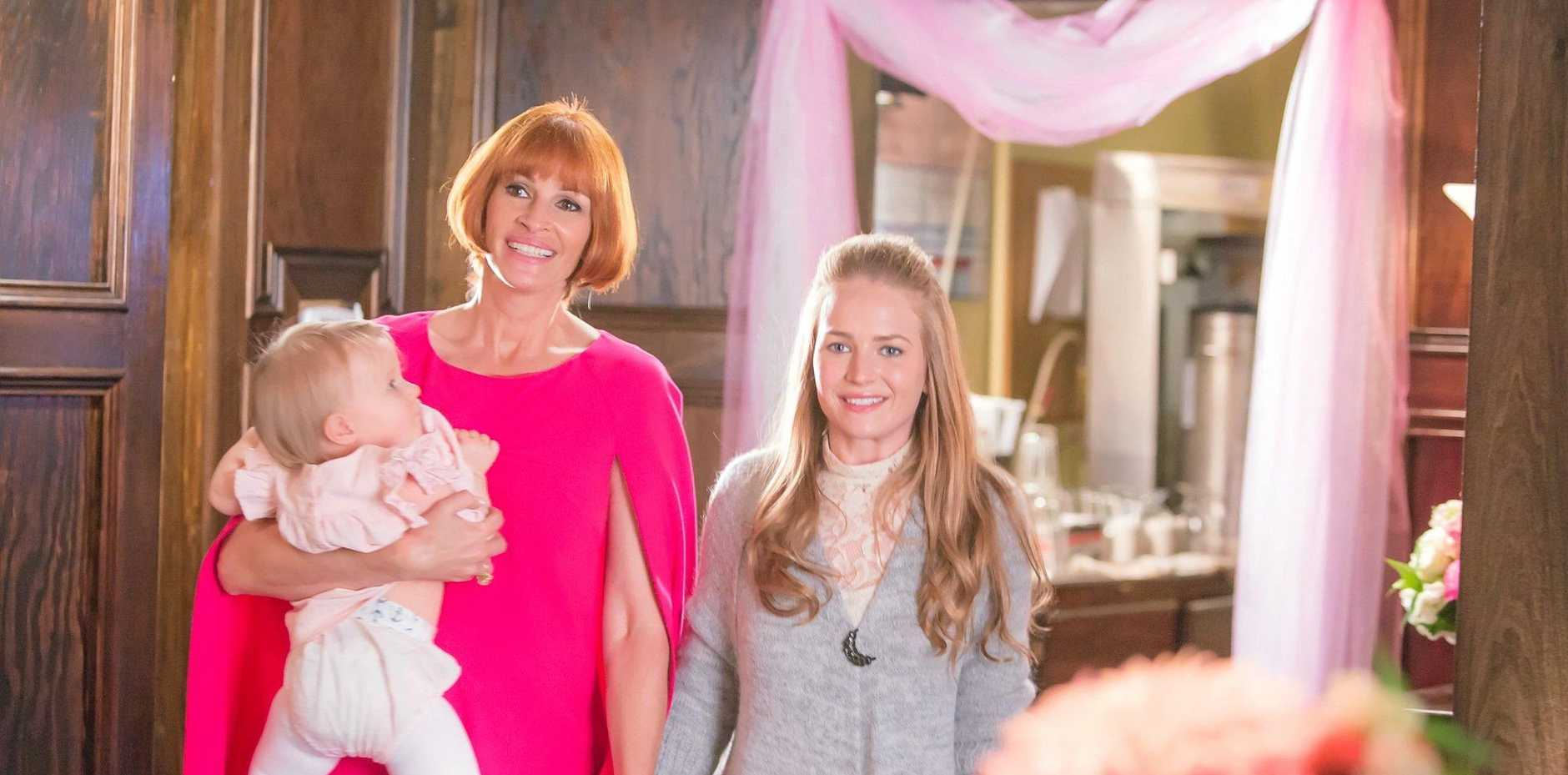 MOTHER'S DAY: Julia Roberts and Britt Robertson in a scene from the movie Mother's Day, screening in Gympie this Mother's Day.